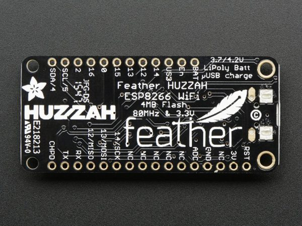 Adafruit Feather HUZZAH with ESP8266 WiFi - back