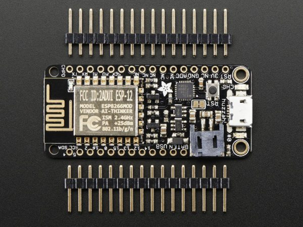Adafruit Feather HUZZAH with ESP8266 WiFi - top