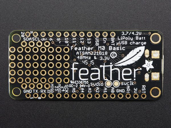 Adafruit Feather M0 Basic Proto - ATSAMD21 Cortex M0 - back