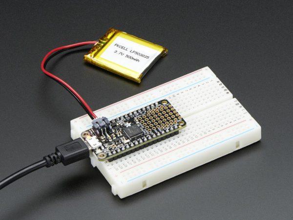 Adafruit Feather M0 Basic Proto - ATSAMD21 Cortex M0 - mounted