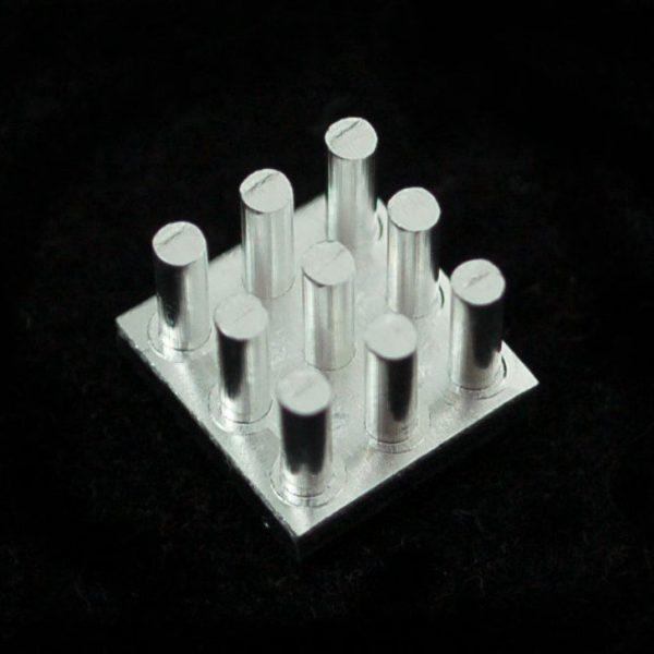 Aluminum SMT Heat Sink - 0.4x0.4 inch square