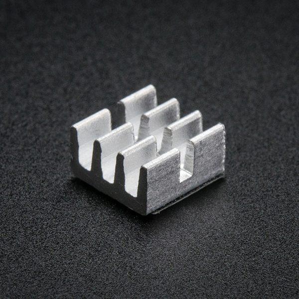 Aluminum SMT Heat Sinks 10 Pack - 0.25x0.25 x 0.15 inch tall