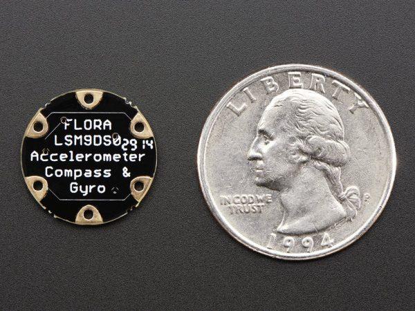 FLORA 9-DOF Accelerometer-Gyroscope-Magnetometer - back