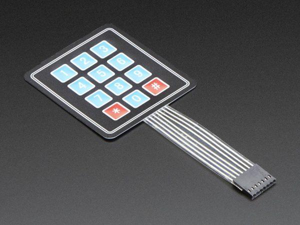 Membrane 3x4 Matrix Keypad + extras - 3x4 - top