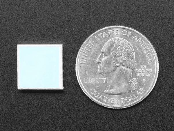 Mini Aluminum Heat Sink for Raspberry Pi - 13 x 13 x 3mm - back