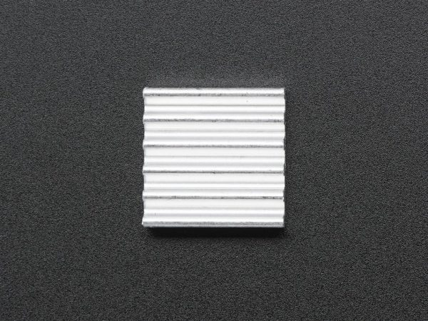 Mini Aluminum Heat Sink for Raspberry Pi - 13 x 13 x 3mm - top